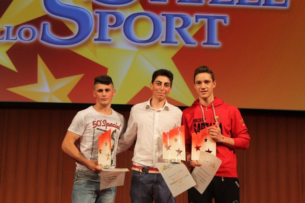 Sportivi Junior del 2013: Lala, Ciampolini, Perroni