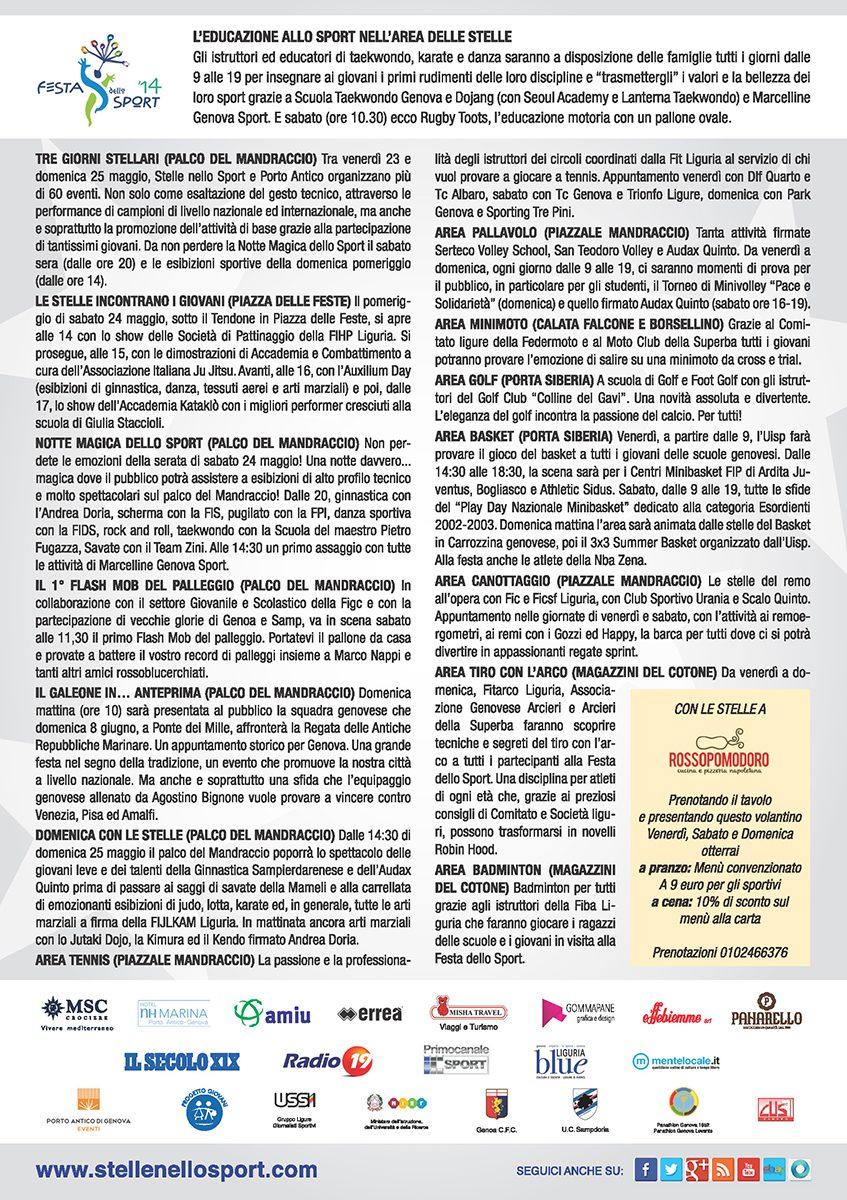 Volantino Stelle FestadelloSport 2014 retro