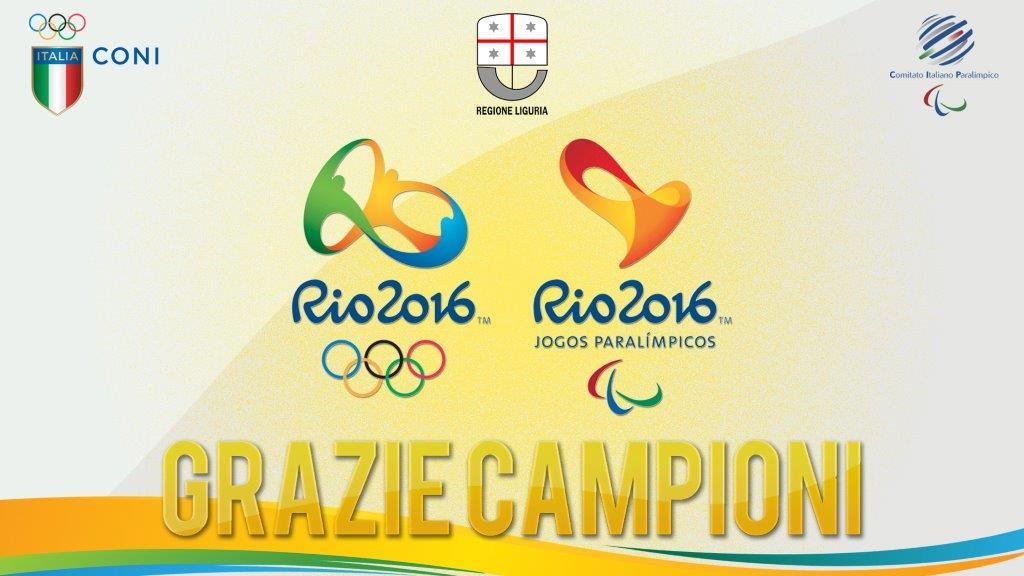 Grazie Campioni. La Regione Liguria premia i protagonisti di Rio2016