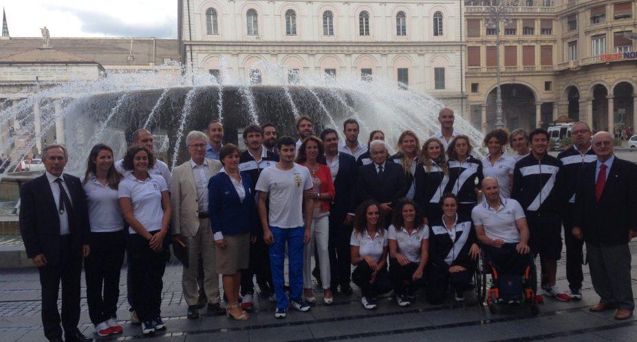 I Campioni di Rio2016 premiati dalla Regione Liguria