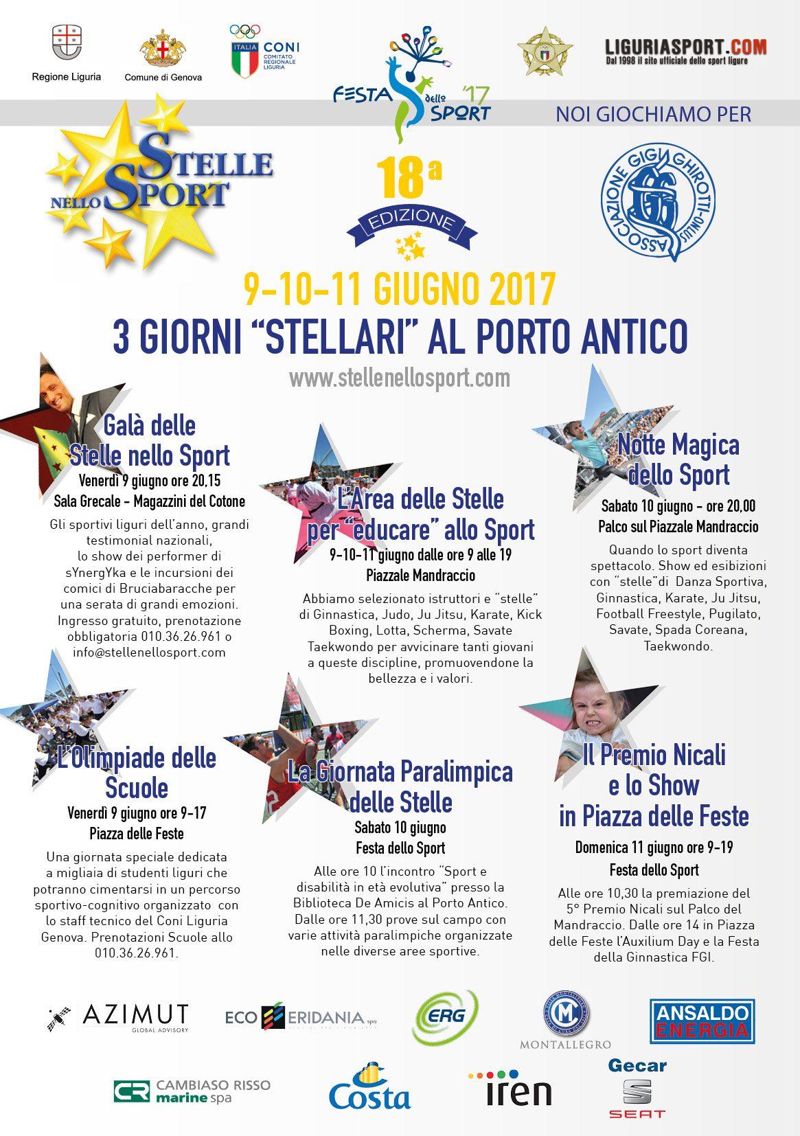 Tre Giorni Stellari Con Campioni Show Esibizioni Al Porto Antico Ecco La Festa Dello Sport Stellenellosport Com